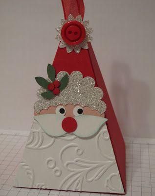 Petal Cone Santa from Glenda Mollet glendamollet.blog...