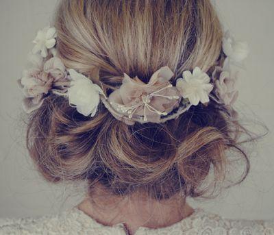 Flower crown updo