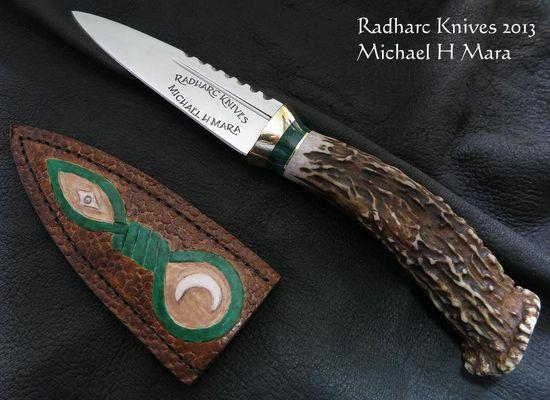 Custom Handmade Knives - Fancy Sgian Dubh