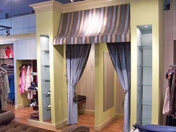Dressing Room Entrance  Interior Design of Retail Boutique Bossi