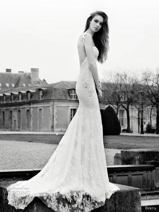 berta wedding dresses 2013 lace sheath straps