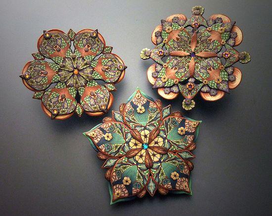 polymer clay mandalas