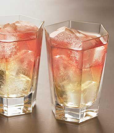 Frenchy = 1 1/2 oz Pear Vodka, 3 oz Pineapple Juice, 1 oz Cranberry Juice