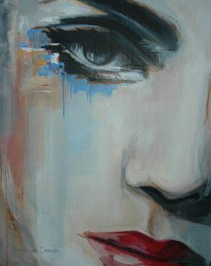 """Saatchi Online Artist Hesther Van Doornum; Painting, """"Thoughts """" #art"""