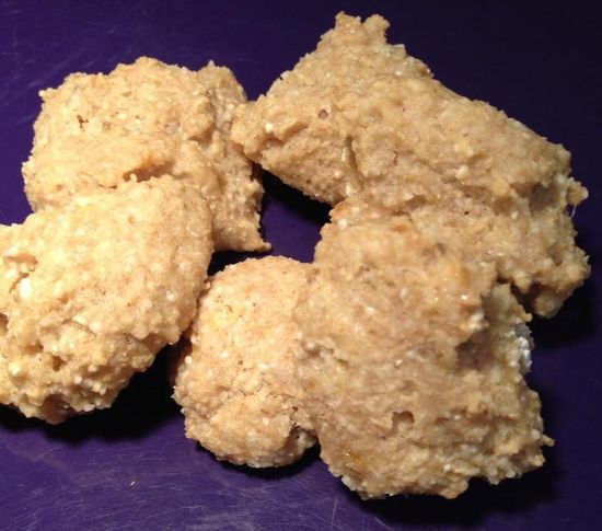 Banana dog treats made by Tammie's Homemade Pet Treats. See the full recipe here and make your own dog training treats.