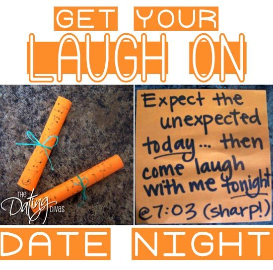 If you're looking to add a little fun into your marriage- then THIS is the date for you!  There's nothing like a little laughter to bring you closer together.  www.TheDatingDiva... #datenight #creativedate #datingdivas