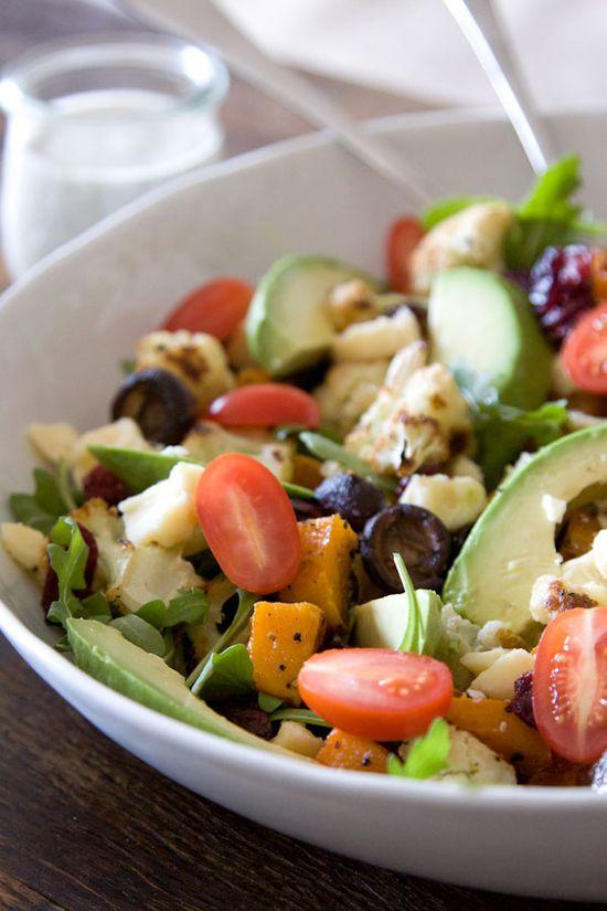 Roasted Vegetable and Avocado Salad