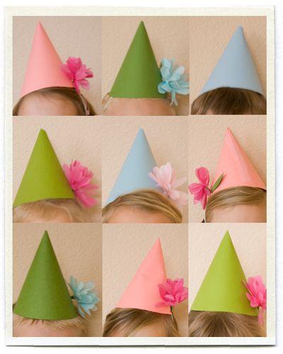DIY kids party hats - adorable!