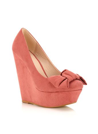 Pink Bow Wedge