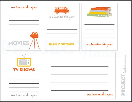 FAVORITES project life modern scrapbooking by projectradness, $2.00 #printable #projectlife