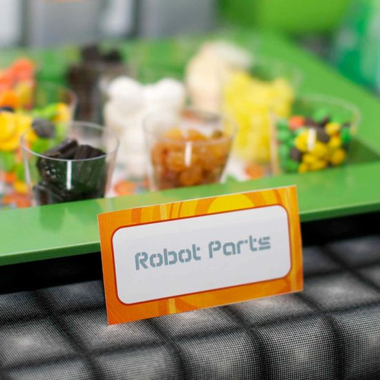 cute idea for my sons first bday robot party