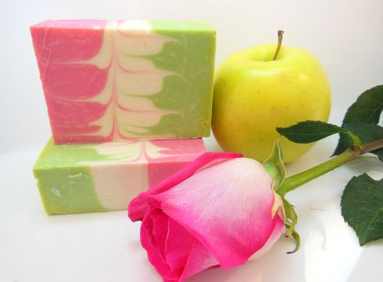 Crisp Apple Rose Cold Process SoapShip Date After by siaelena. , via Etsy.