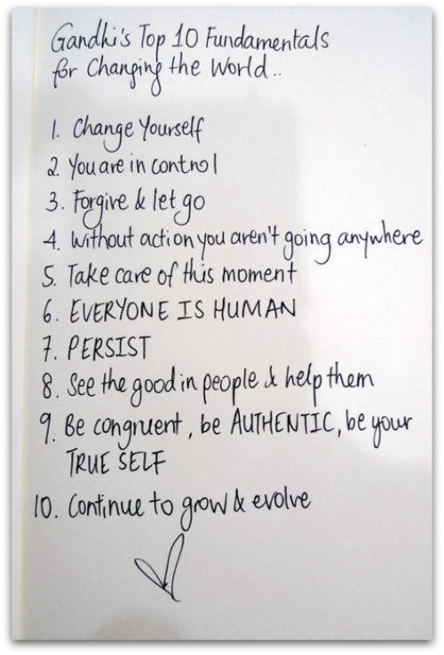 Ghandi's 10 Fundamentals