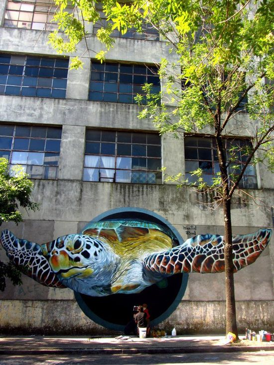 Turtle 3D street art