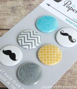Paper Bakery Flair - Moustache Man
