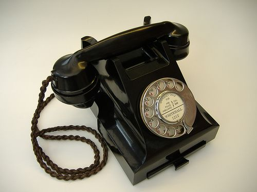 Bakelite phone I remember having one of these it was so heavy!