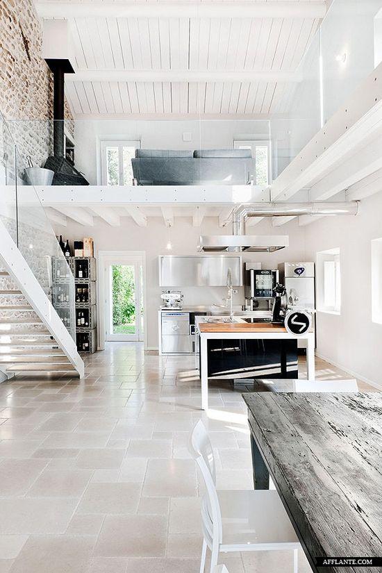 white & wood loft