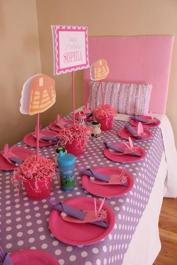 - Pancakes and Pajamas Party - cute theme