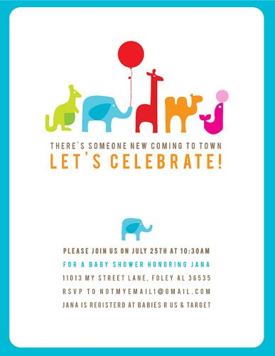 kid's party invite !! ya animal party !!