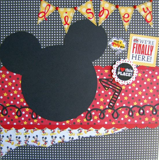 disney scrapbook layouts