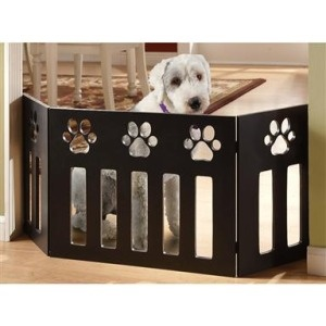 Pet Store Wooden Paw Decor Pet Gate. I found this at Ross for $25...wall hanging possibly