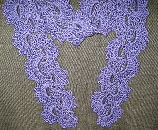 Instructions for crochet lace scarf