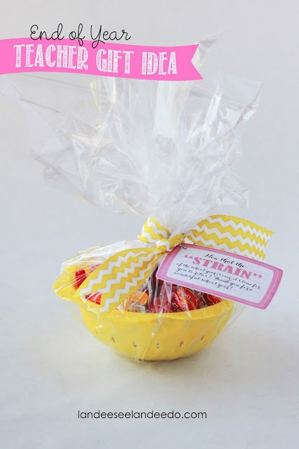 Landee See, Landee Do: Teacher Gift Idea: Now That The STRAIN is Over!