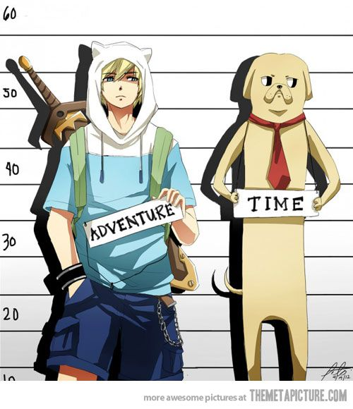 If Adventure Time was an anime, I would definitely watch it.