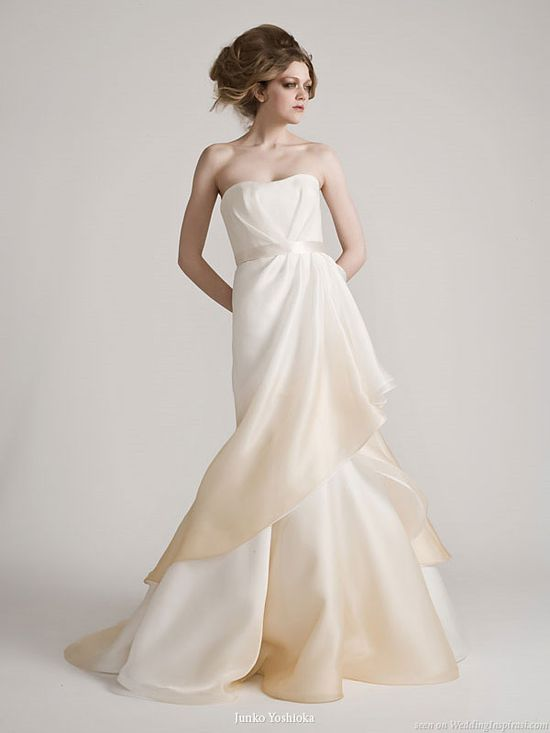 Valentina gradated tone wedding dress from Junko Yoshioka bridal collection spring 2011