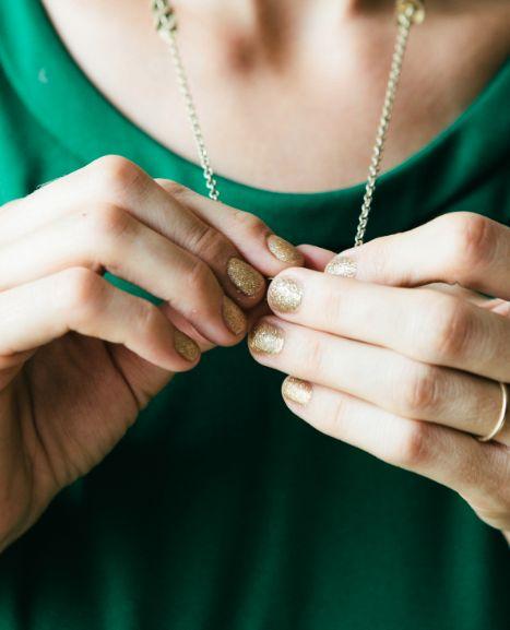A CUP OF JO: Gold nail polish