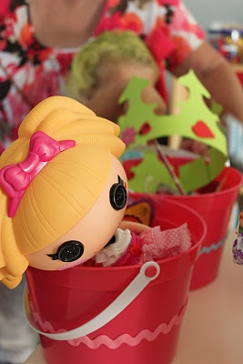 lalaloopsy party ideas. Nicole, you have her hooked!
