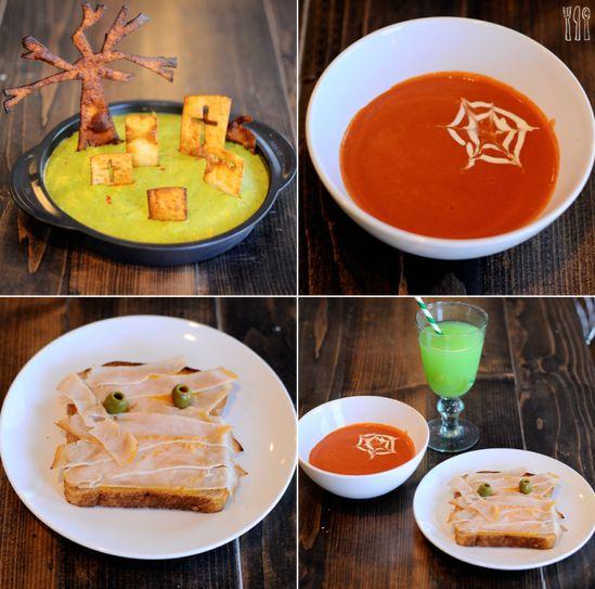 cute & healthy halloween lunch