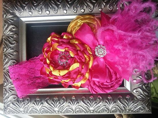 Handmade Rose Rolled Rosettes Bow by OohLaLaDivasandDudes on Etsy, $19.95