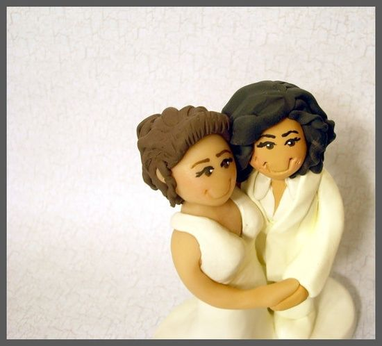 Same Sex Wedding Cake Topper Civil Union by gingerbabies on Etsy, #sex guide