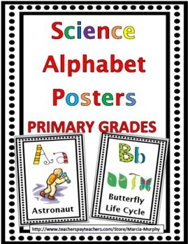 Primary Grades Science Alphabet Posters: A-Z