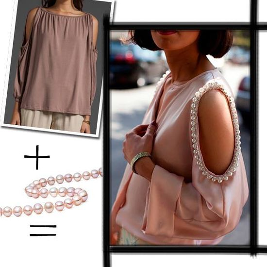 diy fashion sleeves and beads