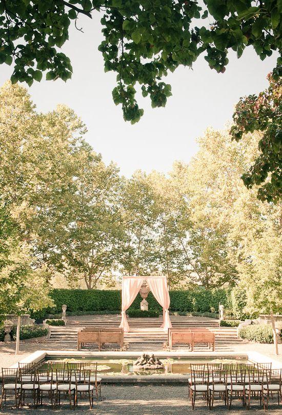 Beaulieu Garden outdoor wedding ceremony