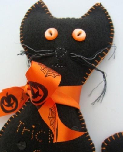 Felt Halloween cat