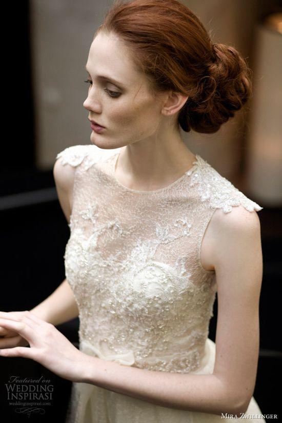 mira zwillinger wedding dresses 2013 2014 grace bridal gown bodice closeup