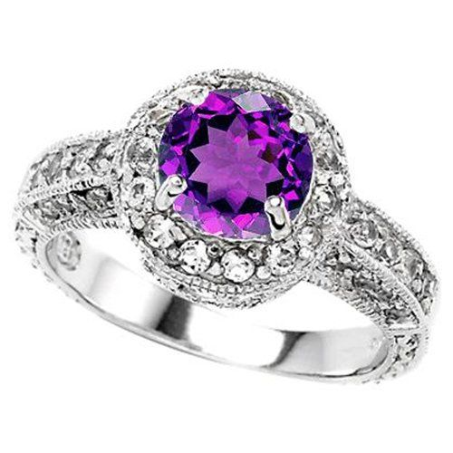 Another purple engagement ring.