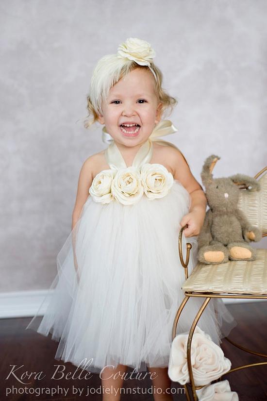 Flower girl tutu dress!