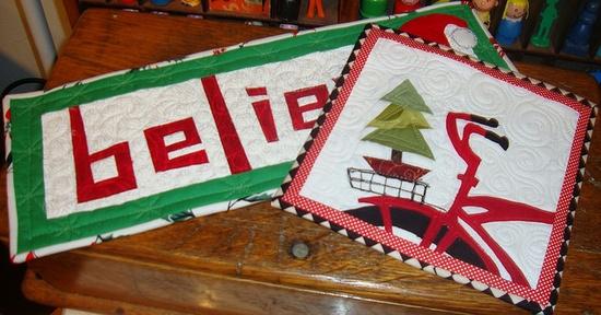 Christmas mug rugs