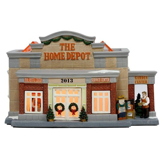 The Home Depot Lighted Village House is a great addition to your Christmas village display!