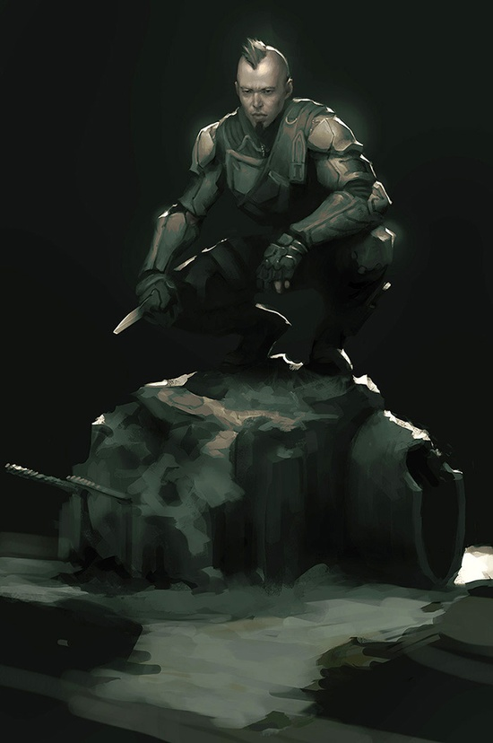 3D character pose concept