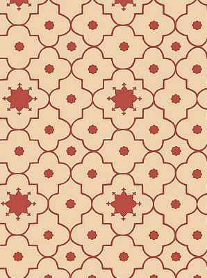 Schumacher Wallpaper Taj Trellis-Pomegranate $63.50 per roll #interiors #decor #holidaydining