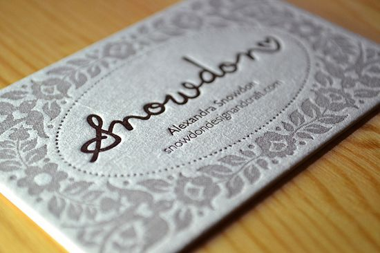 Snowdon Letterpress Business Card by Alexandra Snowdon, via Flickr