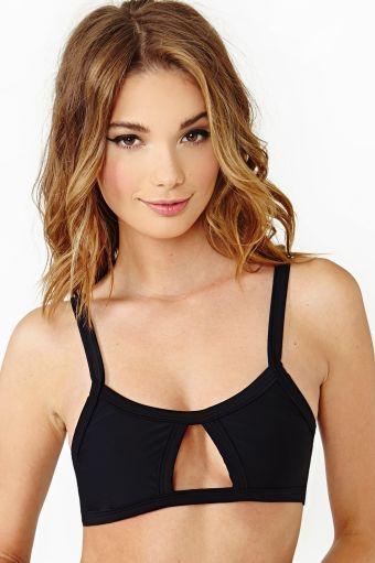 Arabella Bikini Top in Black by Mandalynn, exclusively for Nasty Gal