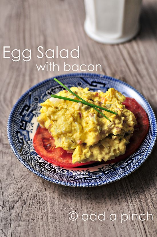 #Egg #Salad with #Bacon #recipe. Mmmmm bacon.