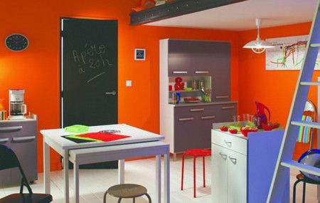 Colours Full Small Kitchen Interior Design Ideas - Kitchen