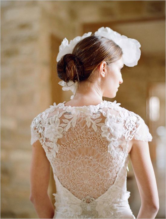 Claire Pettibone dress // detailed back